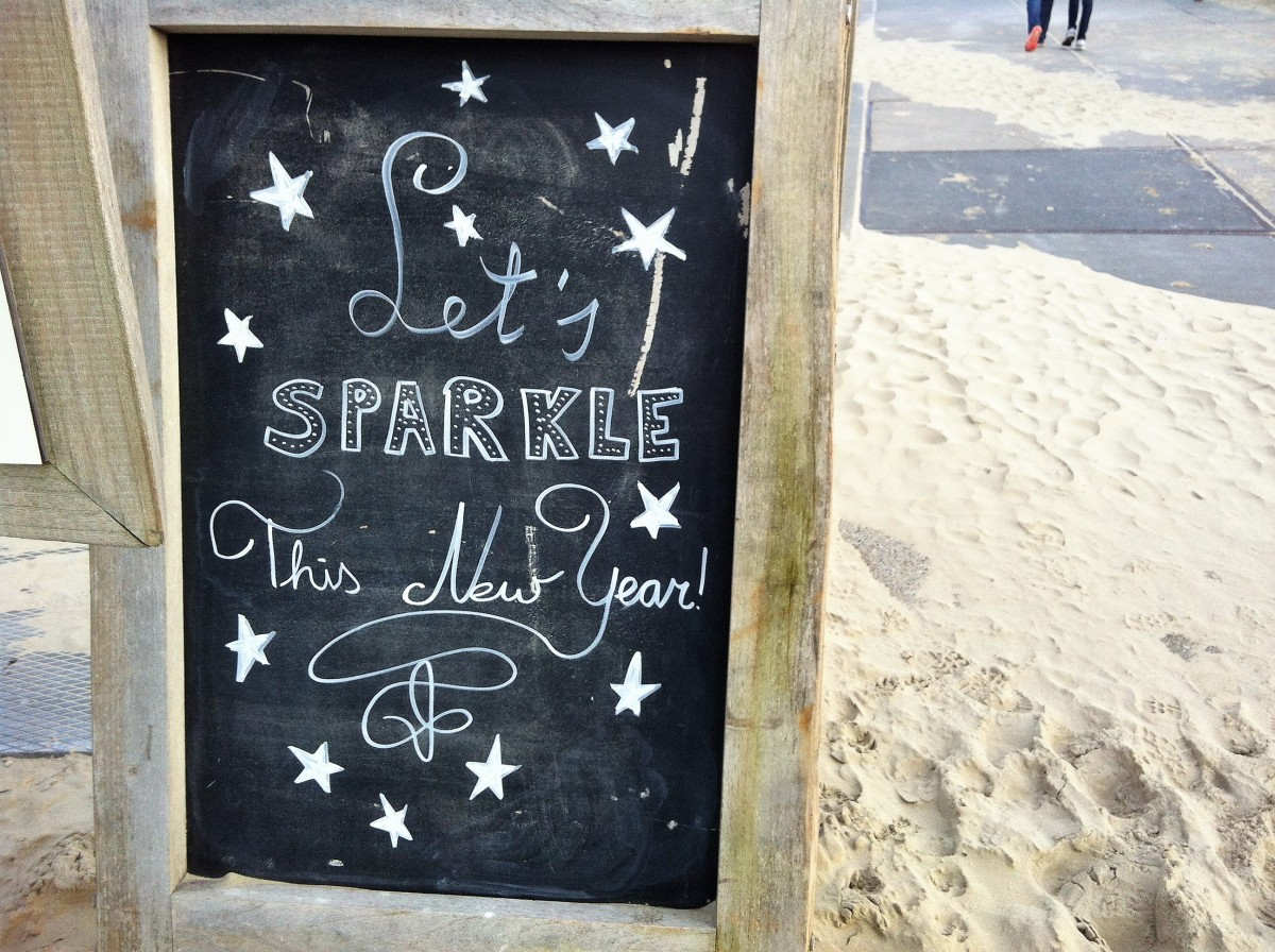 Unterfreundenblog Let's Sparkle this New Year Silvester Blackboard