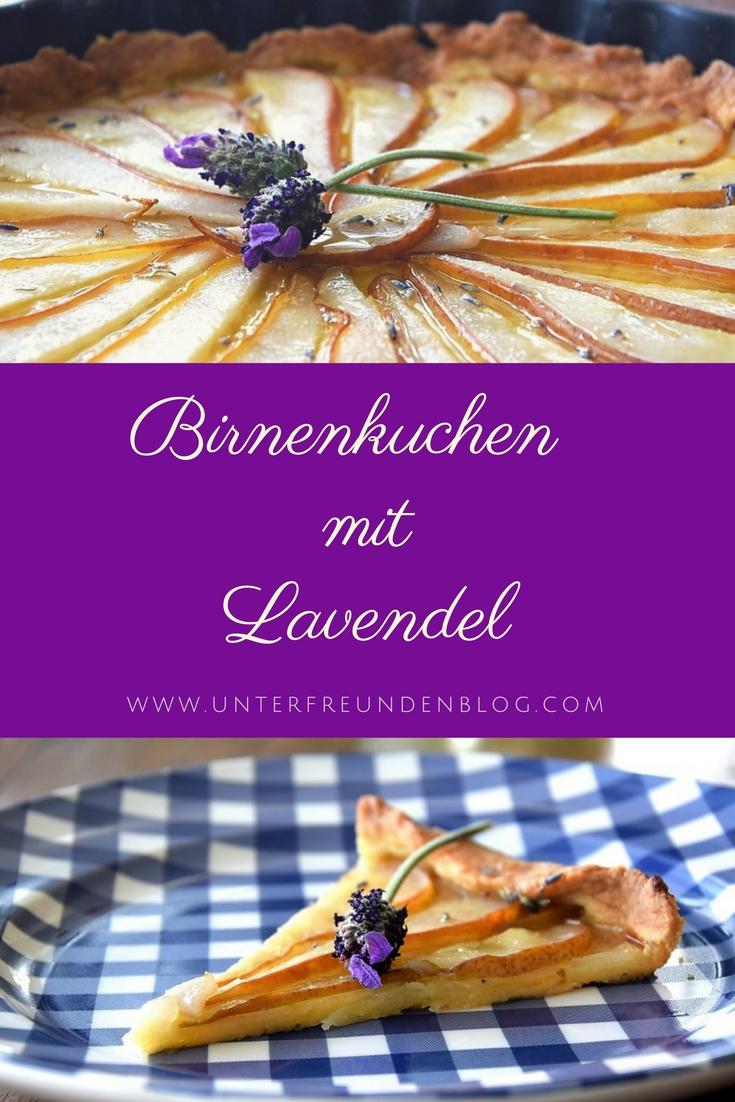 Birnenkuchen mit Lavendel, der Kuchen zum Film - Rezept auf Unterfreundenblog / Pinterest