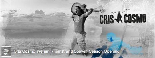 Cris Cosmo live am Rheinstrand Speyer