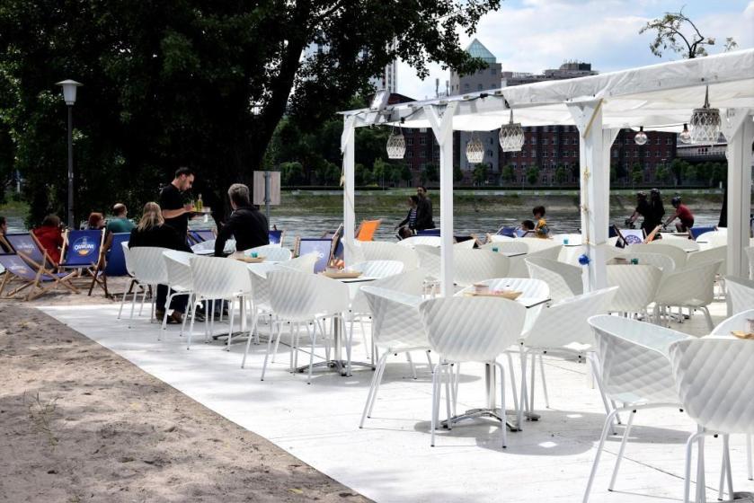 Unterfreundenblog Biergarten Wasserblick Rhein Neckar River's Beach Club Mannheim Lindenhof