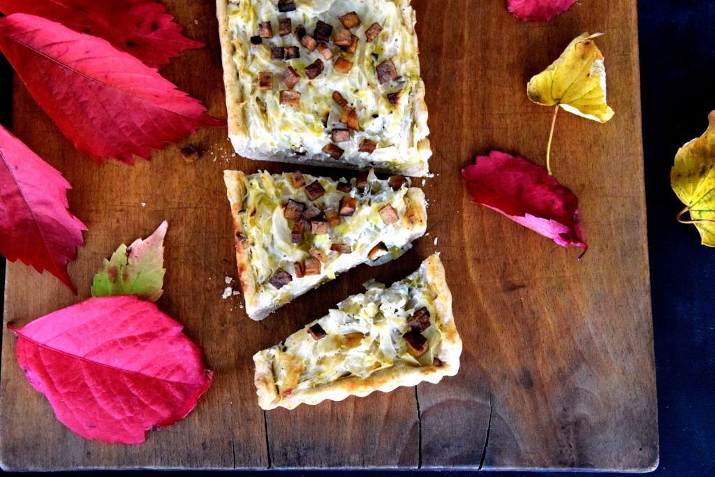 Ein Herbst-Must-Eat! Zwiebelkuchen, heute malvegan
