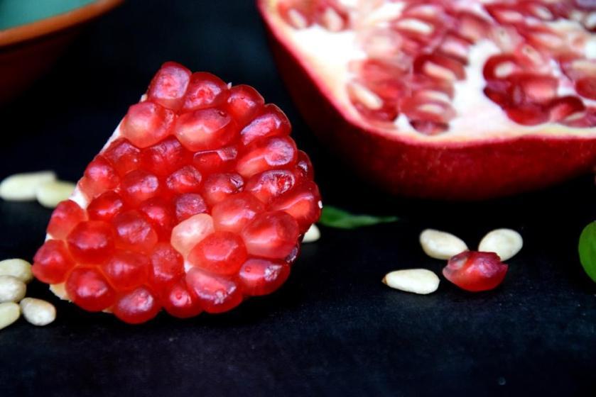 Unterfreundenblog Ottolenghi Lachs Pinienkernsalsa Salmon Pinenutsalsa Bridget Jones Rezept Recipe Granatapfel Pomgranade