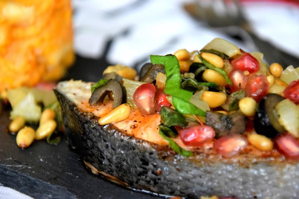Unterfreundenblog Ottolenghi Lachs Pinienkernsalsa Salmon Pinenutsalsa Bridget Jones Rezept Recipe