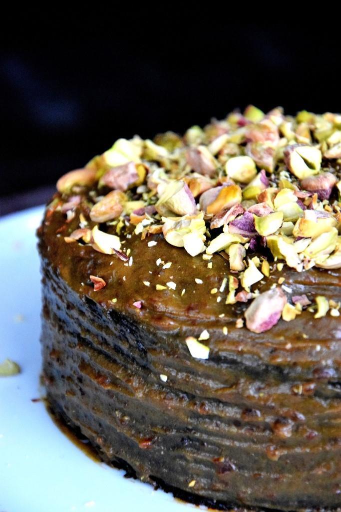Unterfreundenblog Guiness Cake zum Bloggeburtstag der Schlemmerkatze