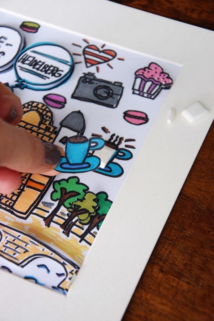 Unterfreundenblog DIY Bild Rizzi Style 3D-Effekt Geschenkidee
