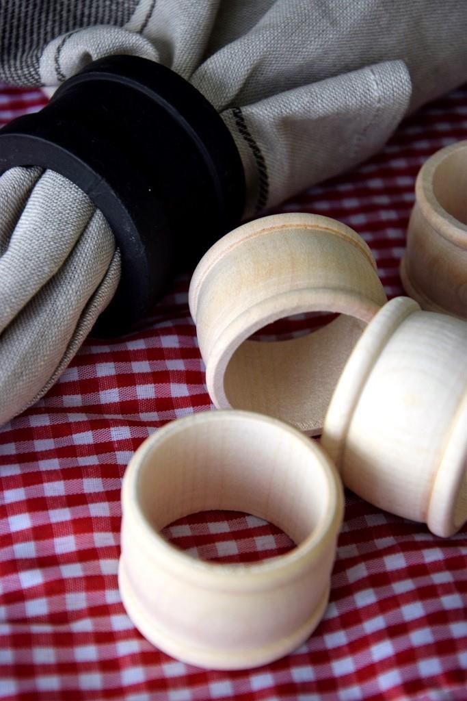 DIY Serviettenringe beschriftbar Tafellack - Unterfreundenblog