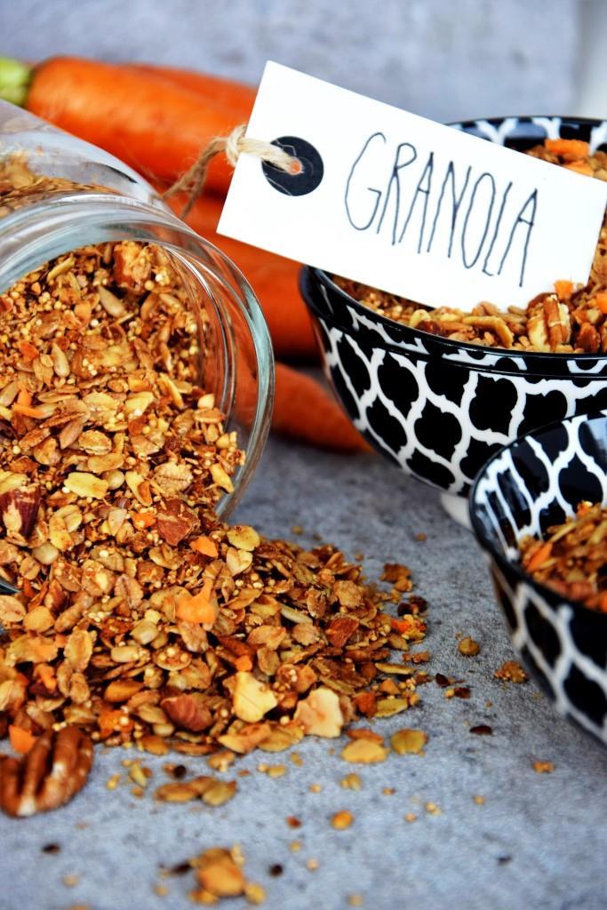 Karottenkuchen zum Frühstück - Carrot Cake Granola - Unterfreundenblog