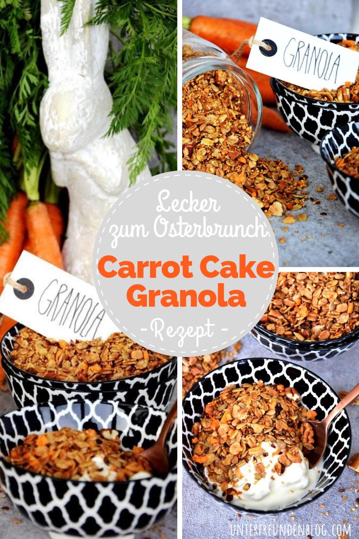 Des Osterhasen liebstes Müsli - Carrot Cake Granola mit echten Möhren!