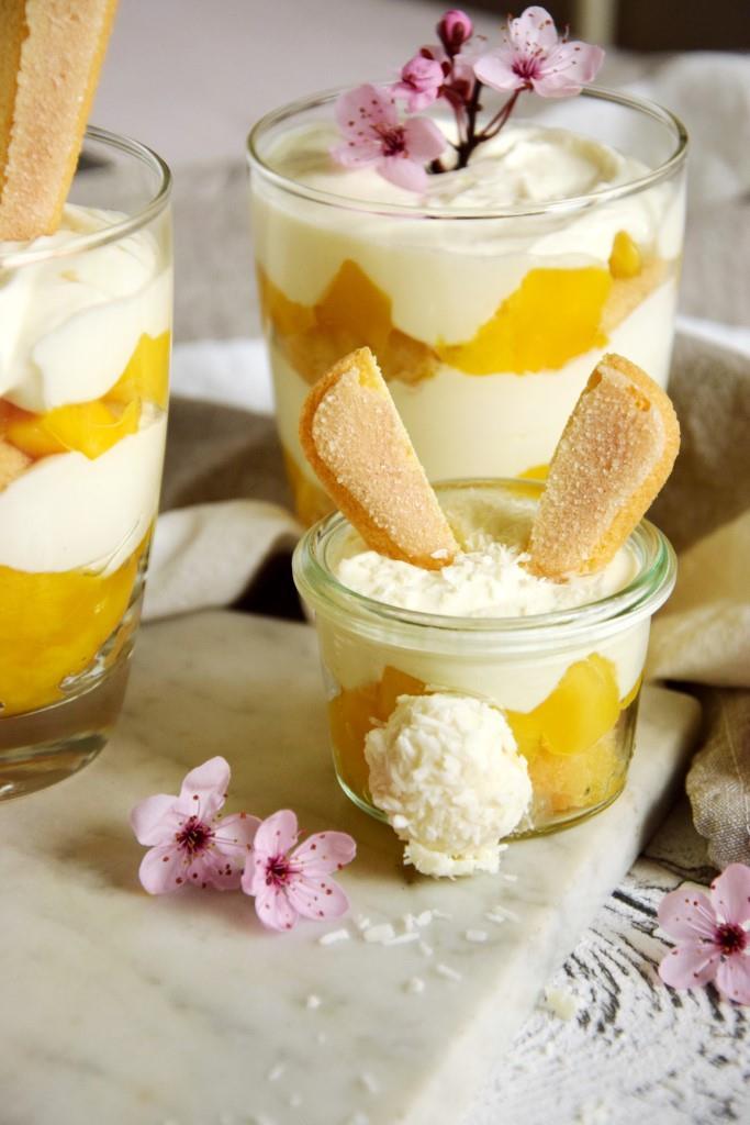 Schnelles Mango-Tiramisu ohne Ei / Osterrezept / Unterfreundenblog