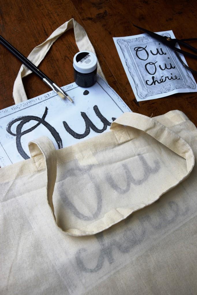 DIY Stofftasche Oui Oui Cherie - Unterfreundenblog