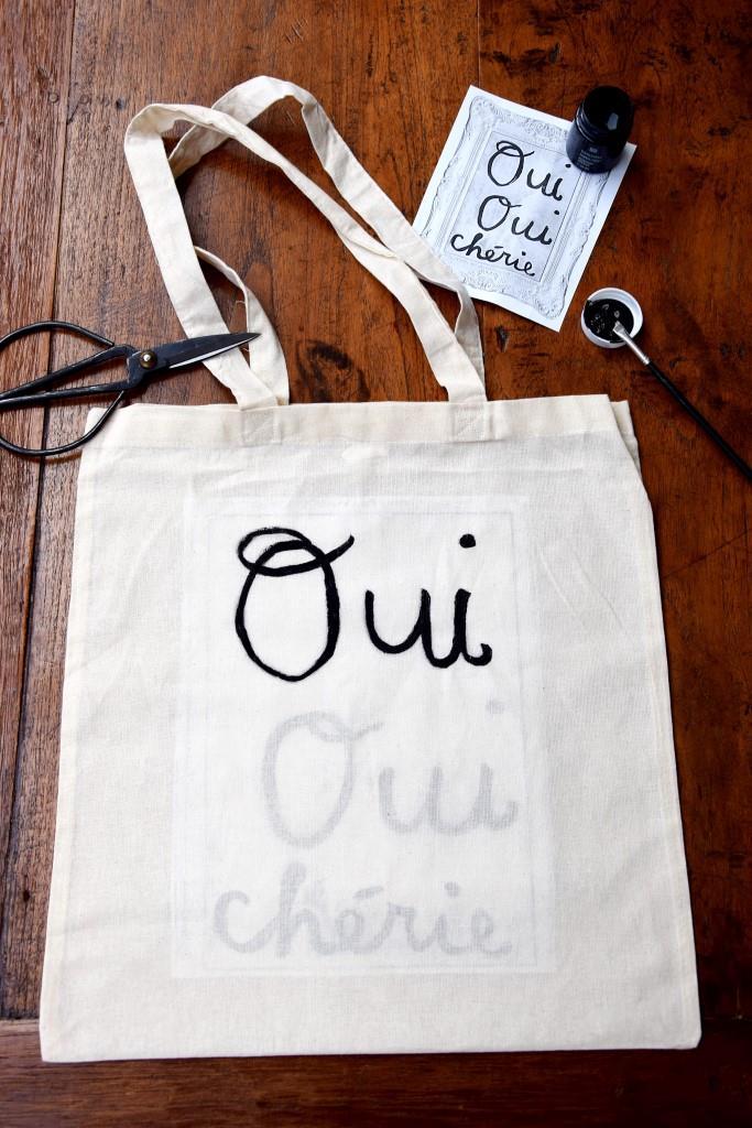 DIY Stofftasche Oui Oui Cherie