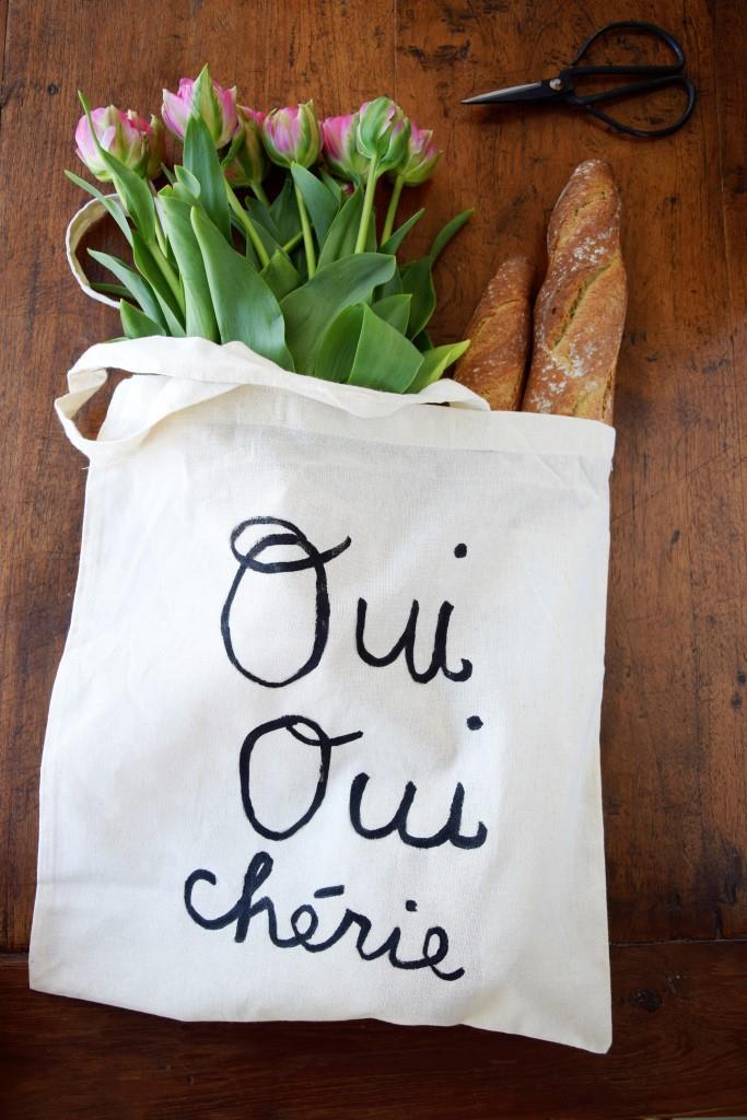 Unterfreundenblog: DIY Stofftasche trés francais: Oui Oui Cherie