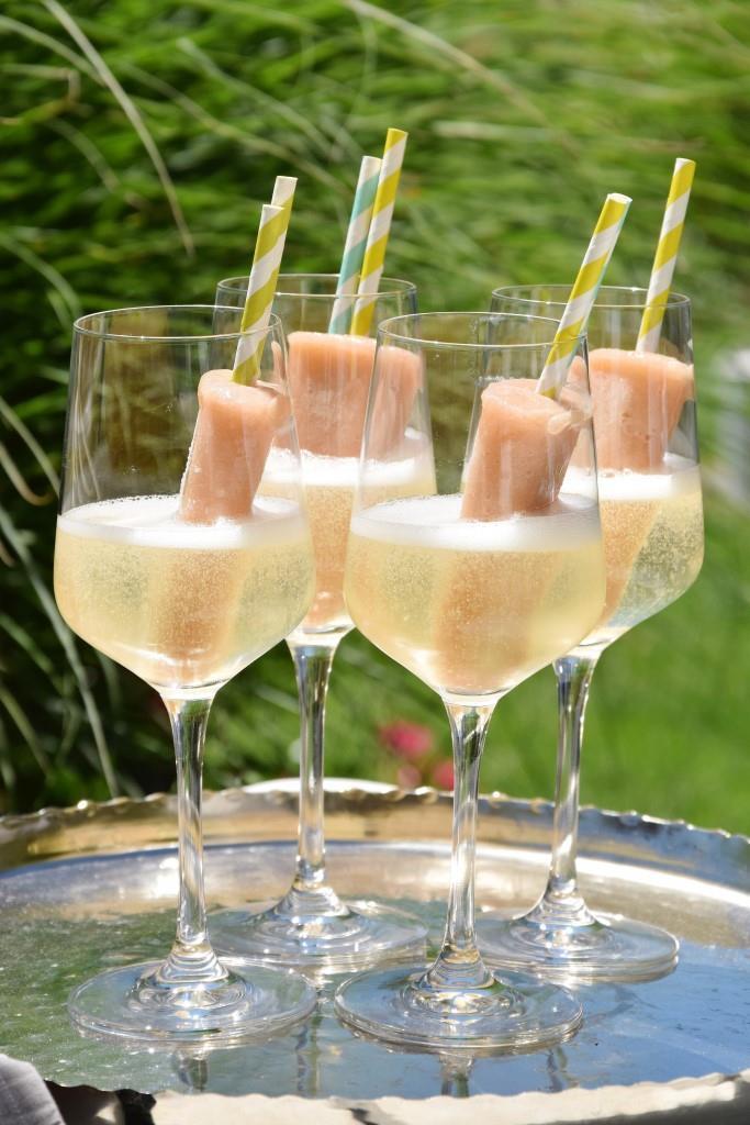 Peach Popsicles in Prosecco - Unterfreundenblog