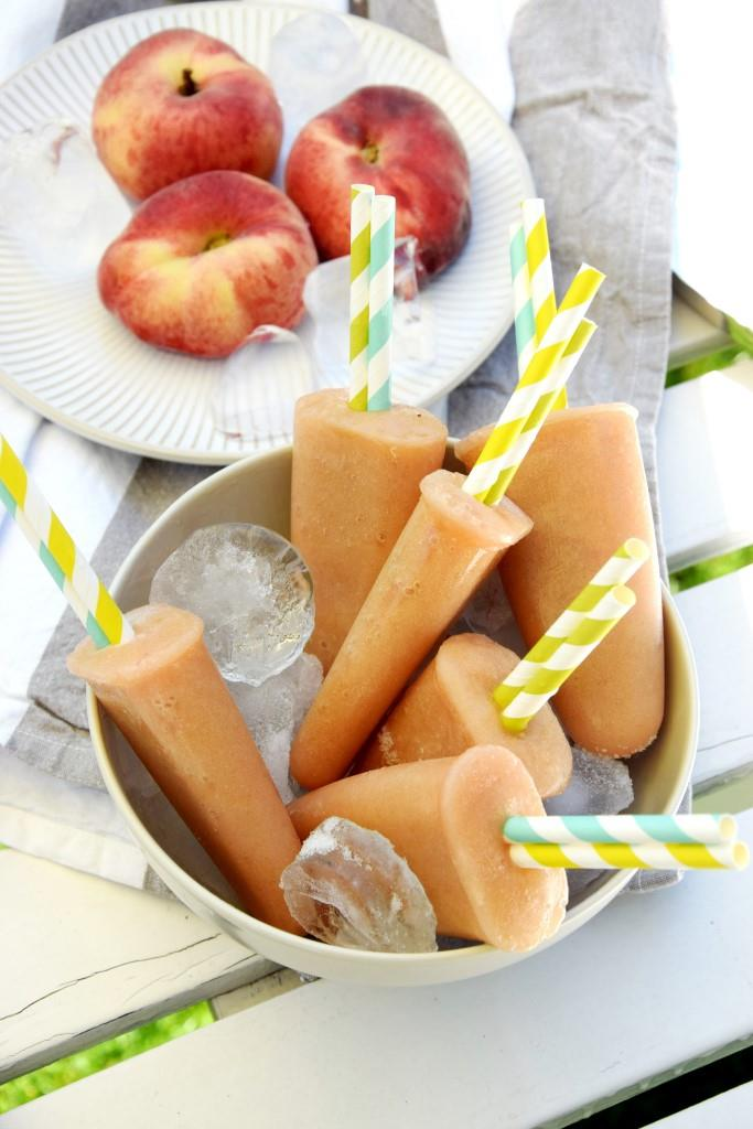 Peach Popsicles in Prosecco - Unterfreundenblog