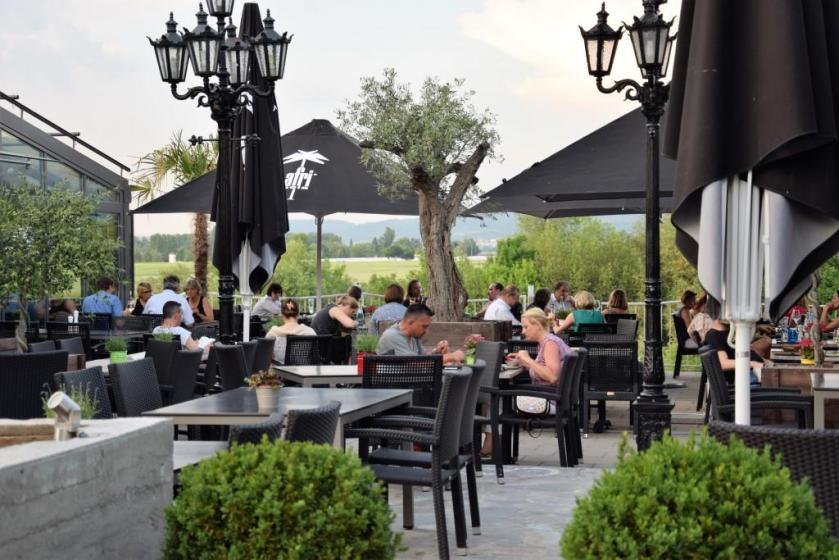 Restaurant und Biergarten mit Neckarblick Wasserblick am Fluss, Rhein-Neckar-Region - Cavos El Greco Edingen - Unterfreundenblog