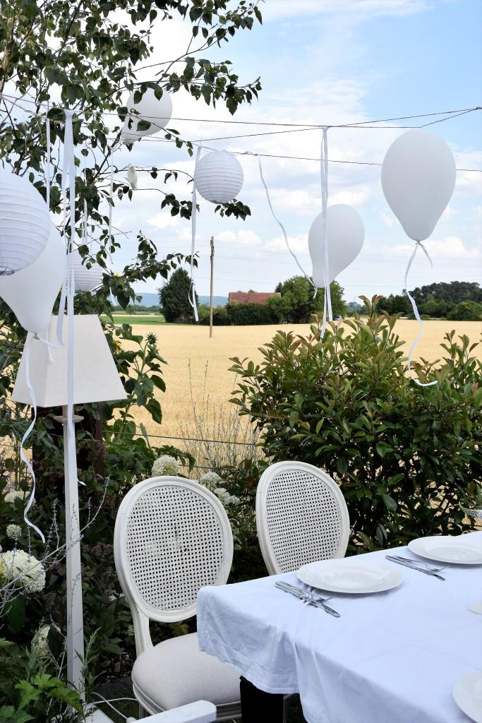 Weiße Deko beim White Dinner / Diner en blanc - der gemeinsame Blog-Event der Rhein-Neckar-Blogger