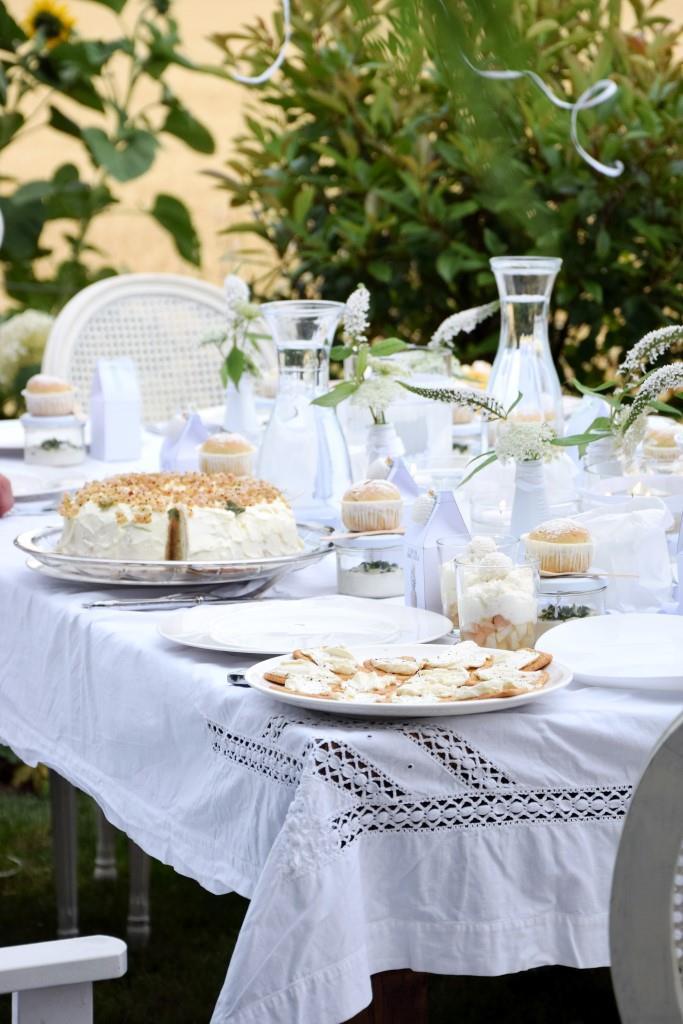 Buffet ganz in Weiß / White Buffet beim White Dinner der Rhein-Neckar-Blogger - Unterfreundenblog