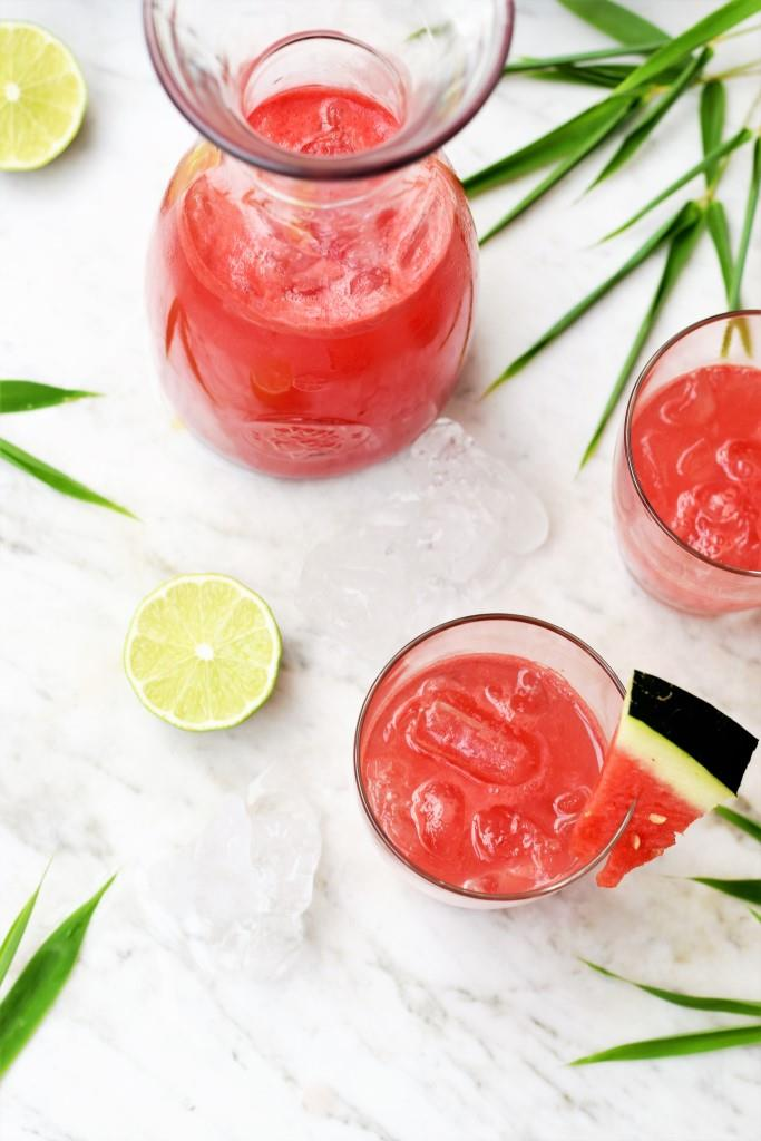 Dreierlei Hitzefrei - Agua Fresca Wassermelone - Sommergetränke - Unterfreundenblog