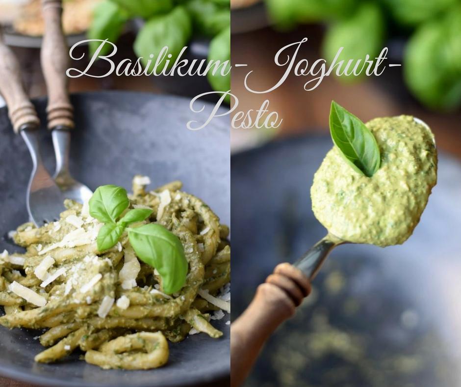 Leichtes Basilikum-Pesto mit Joghurt – es grünt so grün! {Make a Story, Thema September:GRÜN}