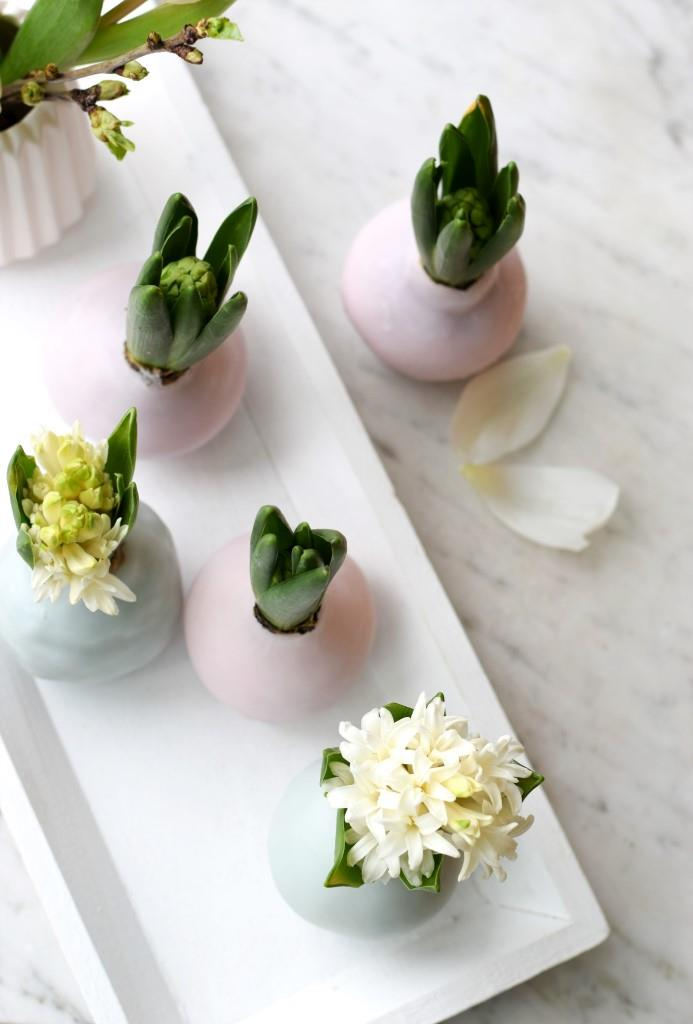 DIY Hyazinthen in Wachs - Frühlingsdekoration in Pastell - Unterfreundenblog