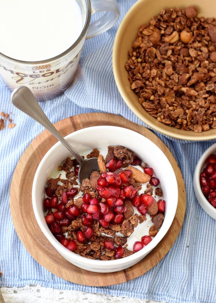 Rezept für selbstgemachtes Schokoladen-Buchweizen-Granola - Unterfreundenblog