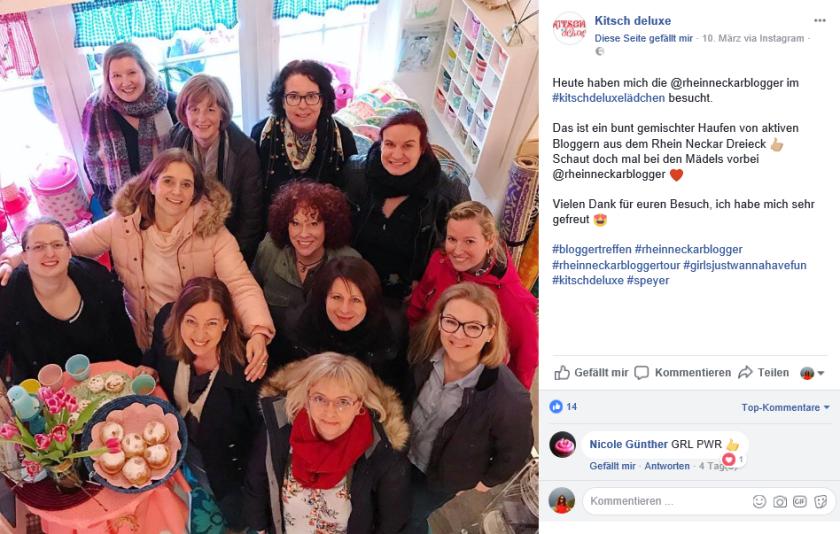 Die Rhein-Neckar-Blogger on Tour, im Lädchen von Iris bei Kitsch Deluxe, Speyer