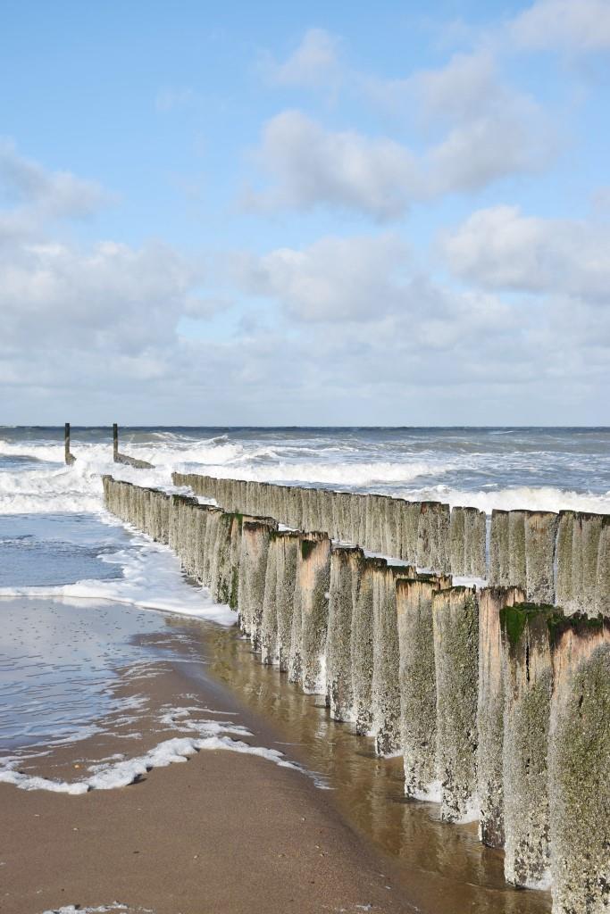 Blauer Himmel, salzige Luft und Wellengucken - Hollandglück pur