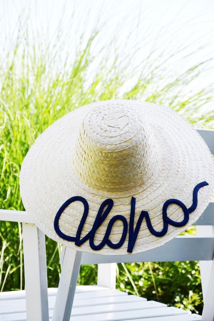Aloha! Selbst beschrifteter Strandhut - die Sommer-Idee!
