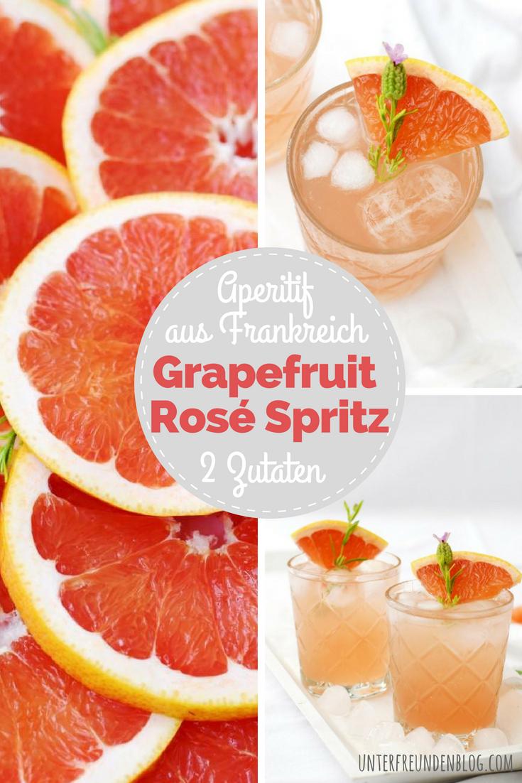 Grapefruit Rosé Spritz - nur 2 Zutaten und ganz viel Sommer-Genuss - Aperitif aus Frankreich auf Unterfreundenblog