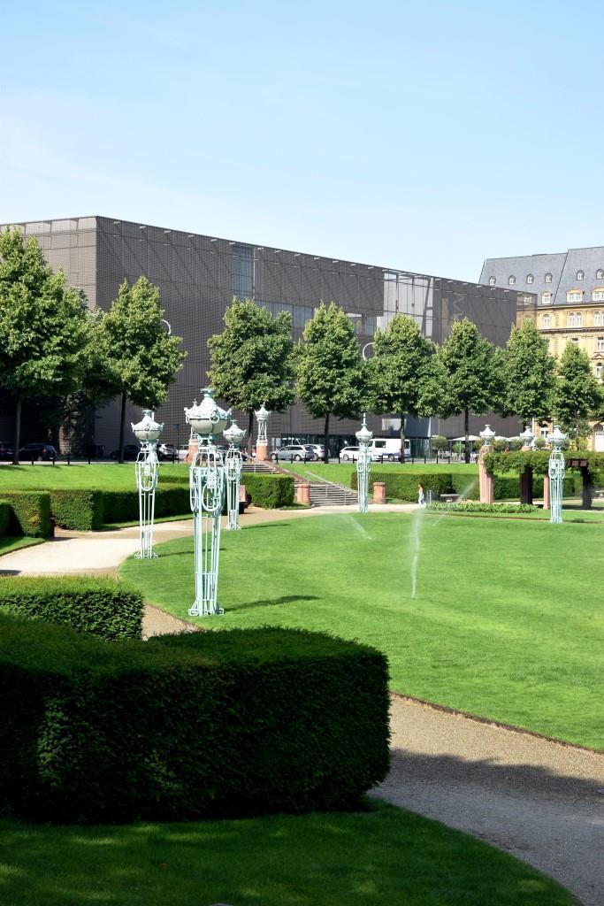 Die neue Kunsthalle Mannheim von außen