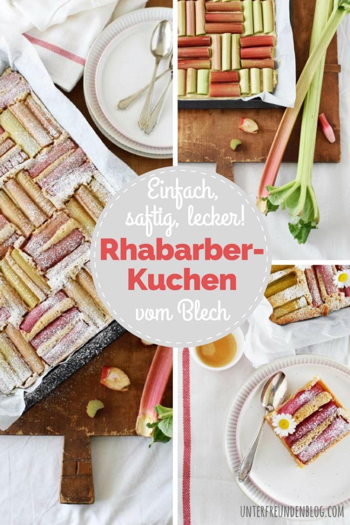 Einfacher Rhabarberkuchen vom Blech / Unterfreundenblog