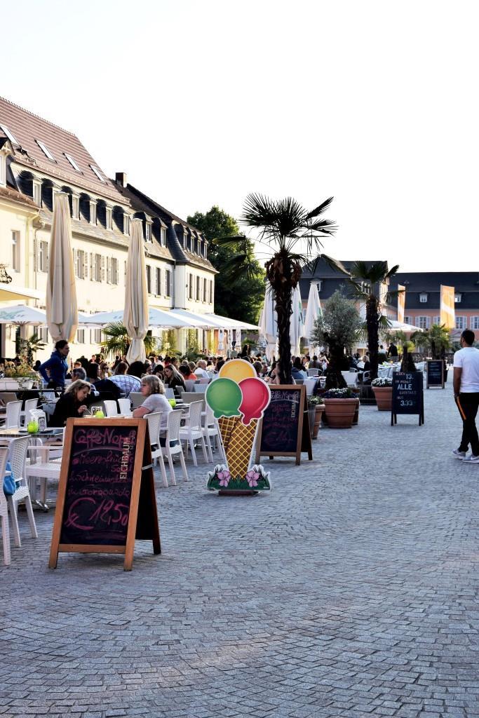 Das Ziel unserer Radtour - der schöne Schlossplatz in der Spargelstadt Schwetzingen