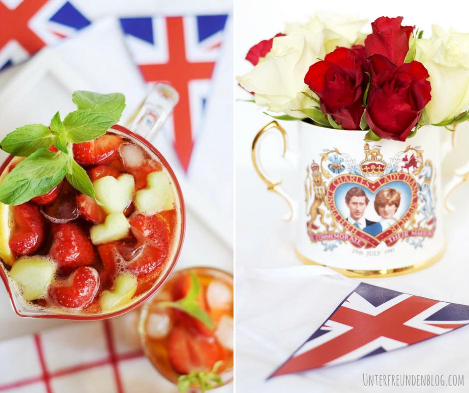 Royale Hochzeits-Feierei mit einer very lovely Erdbeer-Pimm's-Bowle