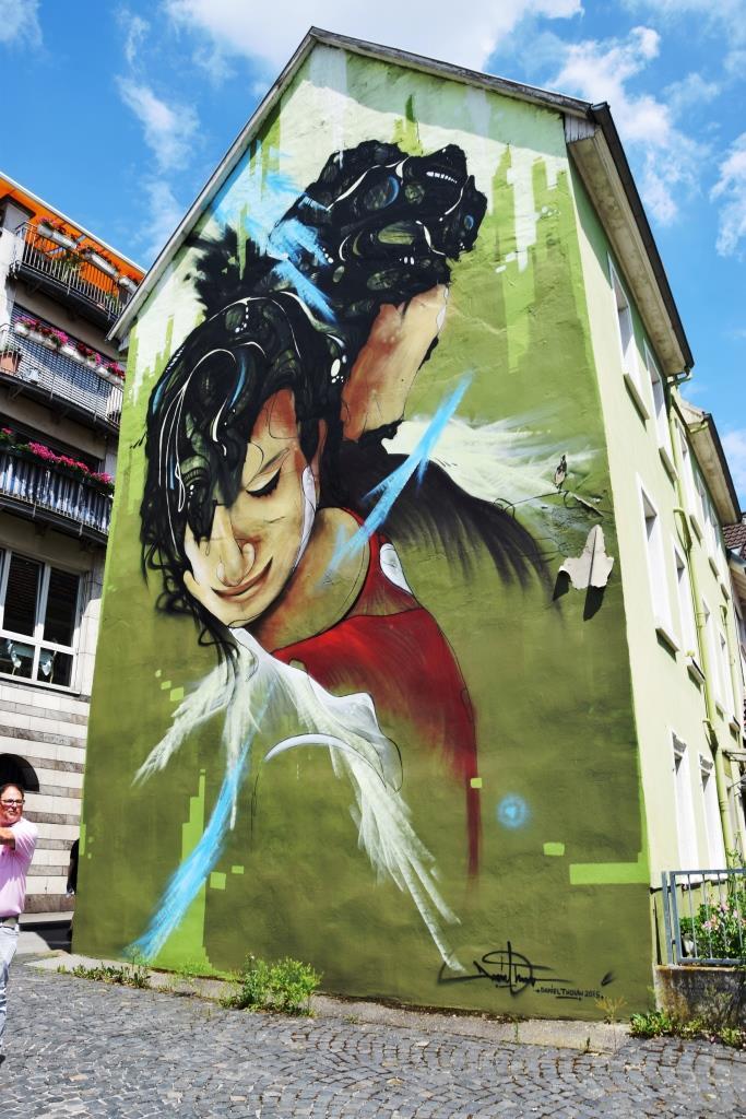 Streetart an der Hauswand - Heidelberg Neuenheim