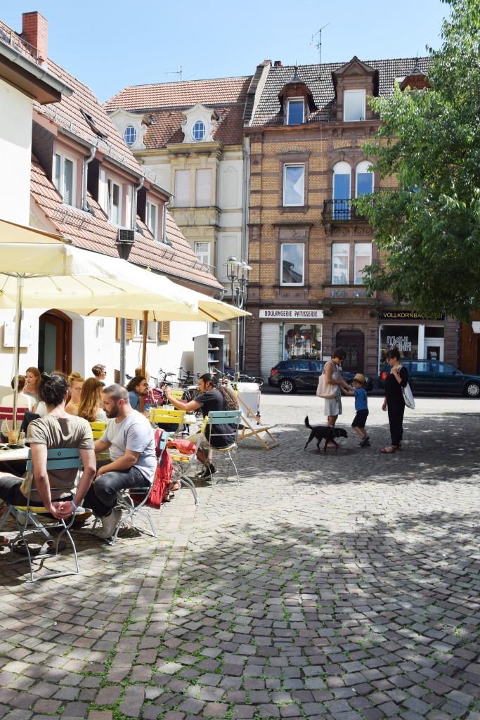 Sonnige Auszeit auf dem Neuenheimer Marktplatz