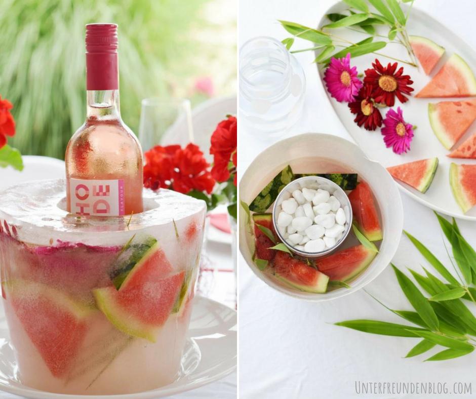 DIY für den coolsten Weinkühler EVER! Mein selbstgemachter Wassermelonen-Ice Bucket zum RedDinner