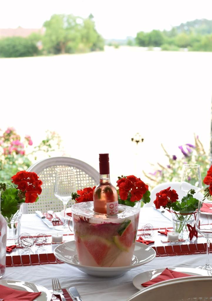 Der Wassermelonen-Ice-Bucket - ein Hingucker selbst beim Red Dinner!