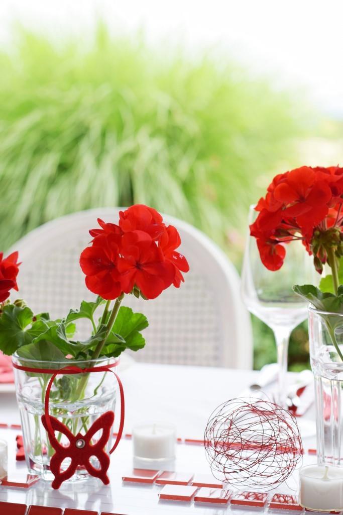 RED Dinner der Rhein-Neckar-Blogger - die Tischdeko