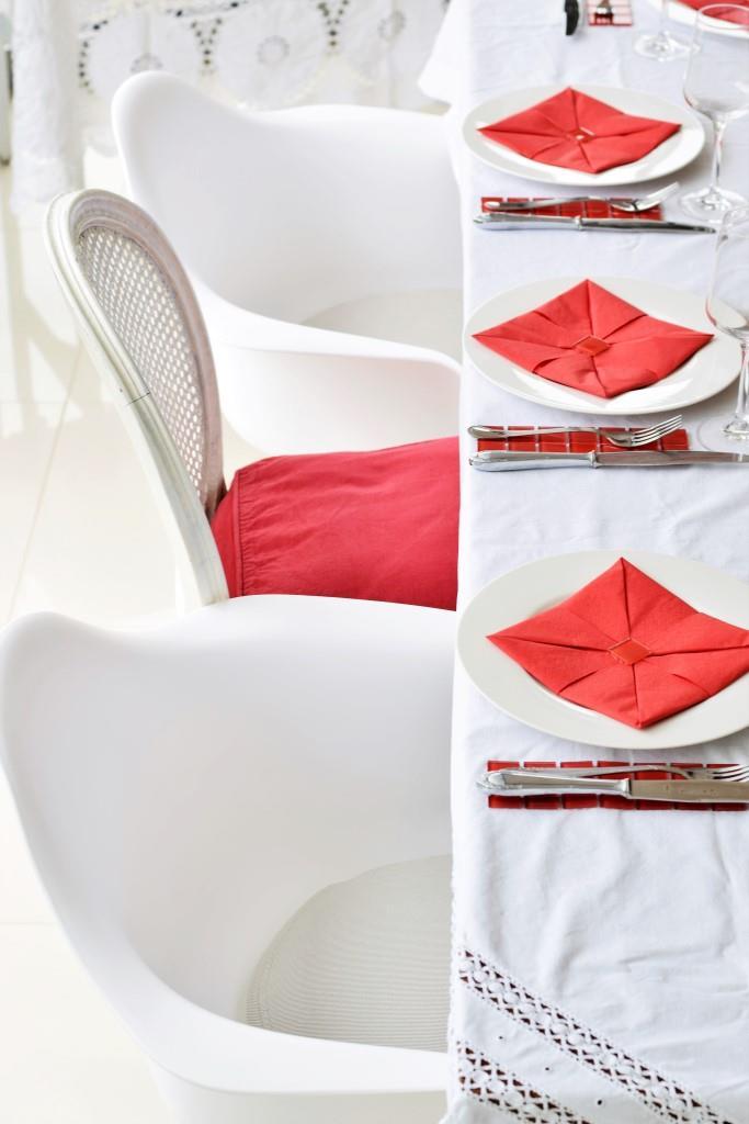 Tischdeko und Styling beim Red Dinner, das Sommerfest der Rhein-Neckar-Blogger