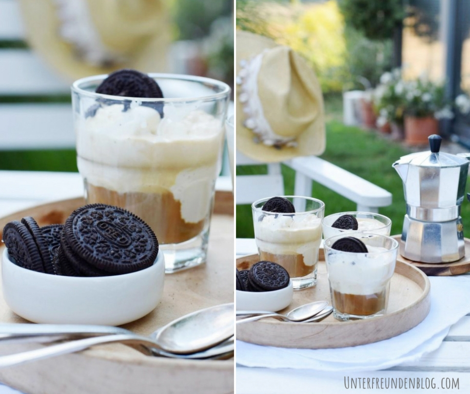 #Butfirsteiskaffee - OREO Affogato - das einfache Rezept auf Unterfreundenblog