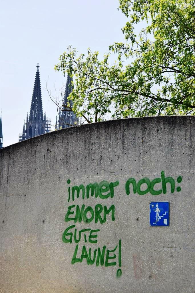 Gut gelaunt in Regensburg!