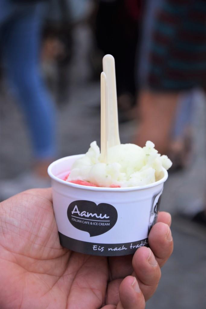 Aamu, unser Favorit unter den tollen Eiscafés in Regensburg