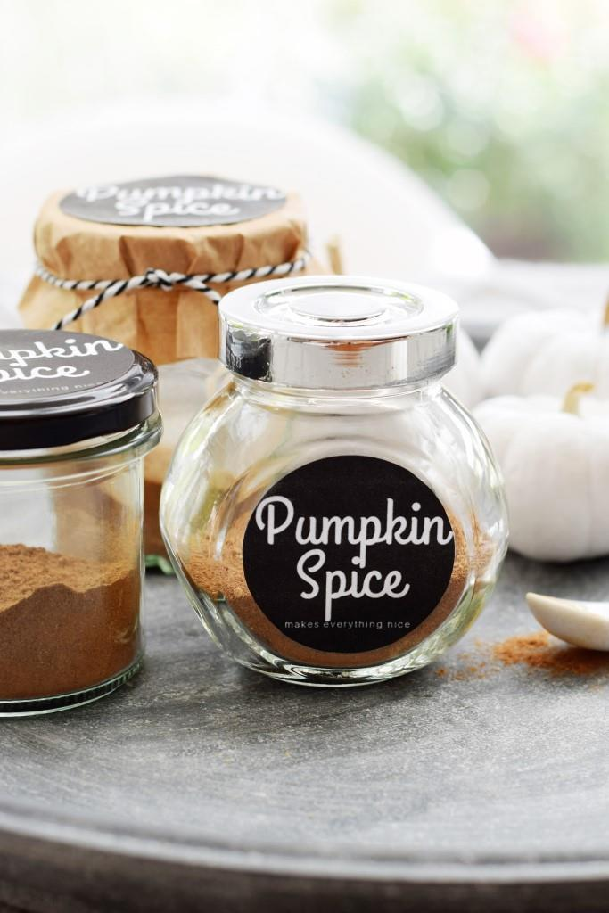Pumpkin Pie Spice makes everything nice - Rezept und Freebie Etikett - Unterfreundenblog