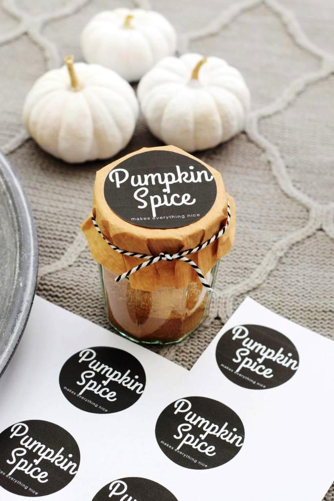 Freebie Etiketten für selbstgemachten Pumpkin Spice