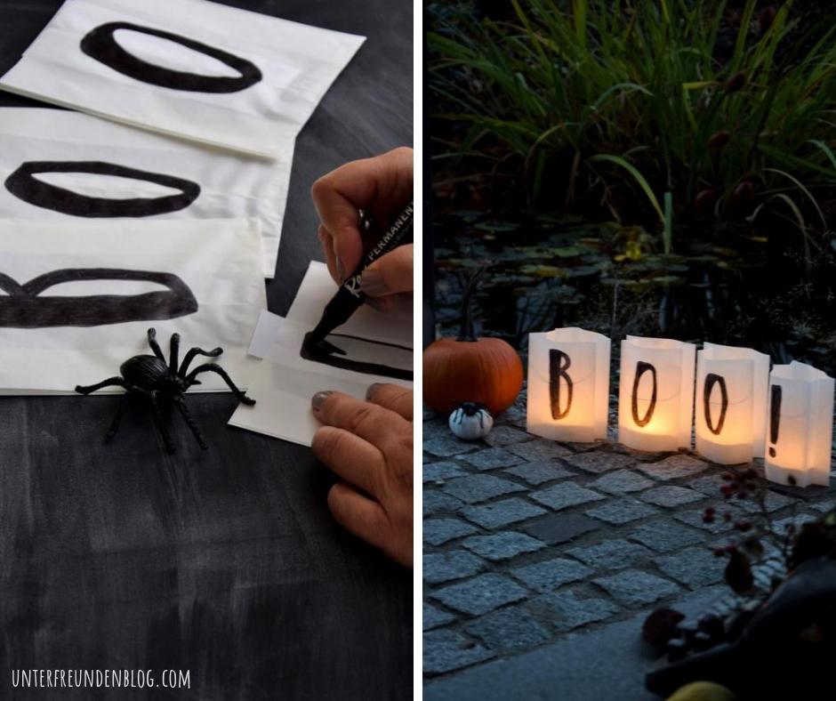 BOO! Papier-Windlichter aus Brottüten (!) für Halloween / schnelles DIY auf den letztenDrücker