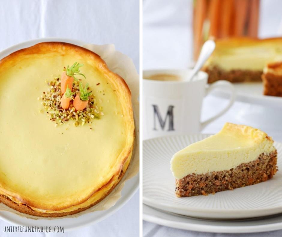 2 Lieblingskuchen in einem! Rüblikuchen trifft Cheesecake - yum!