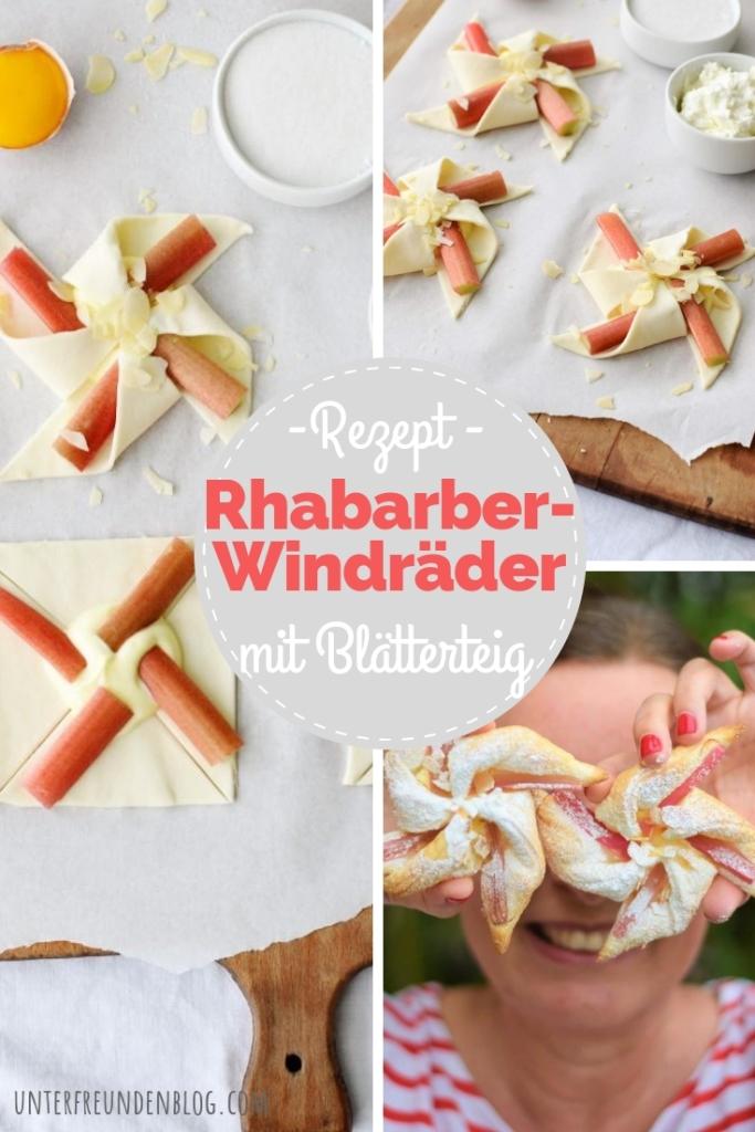 Rezept Rhabarber Windräder Blätterteig