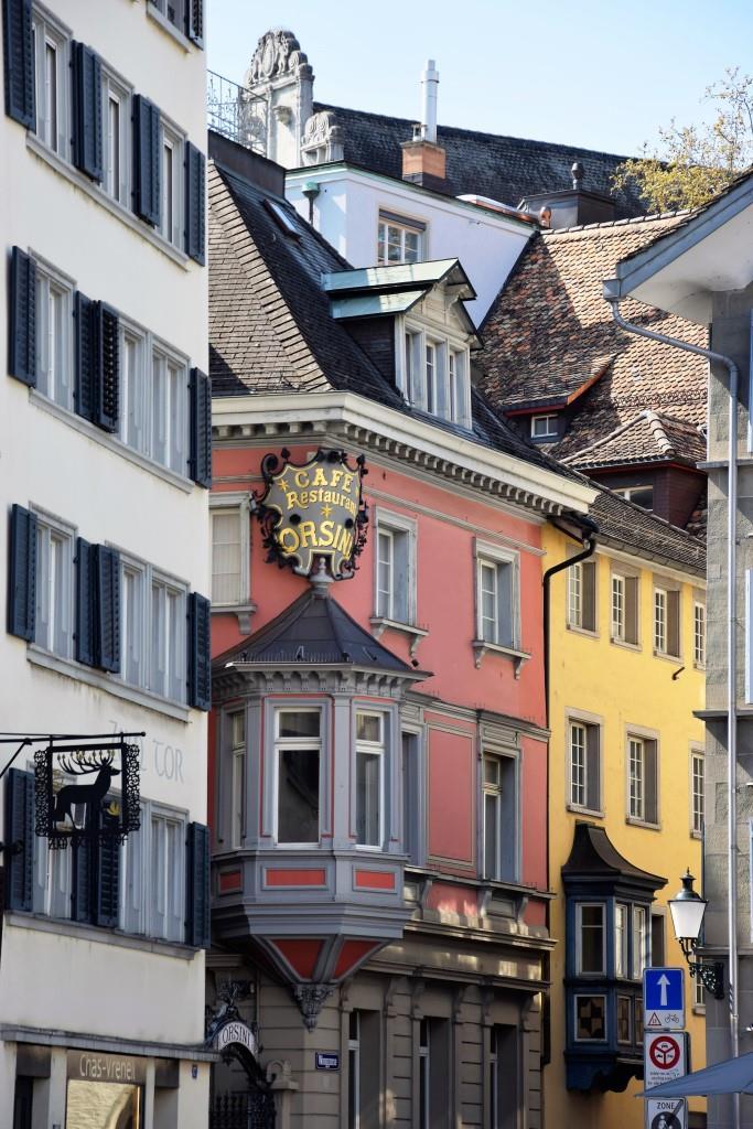 Fassaden Altstadt Zürich bun