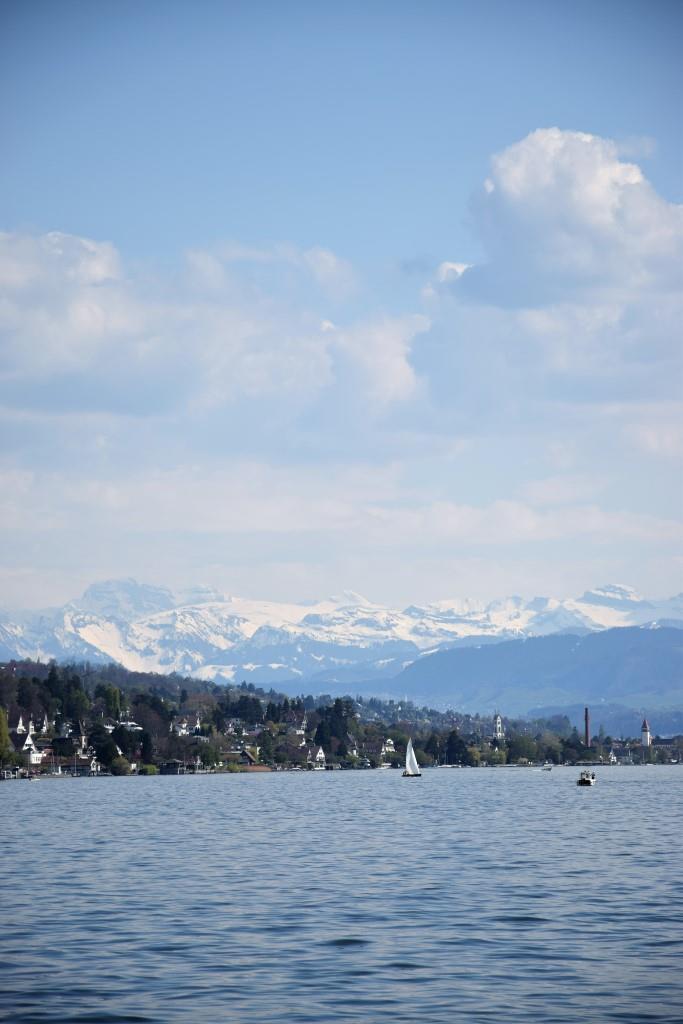 Zürichsee Berge Schnee