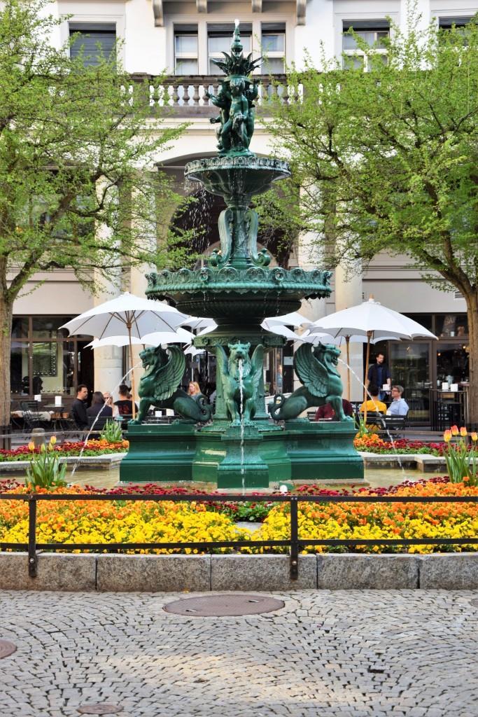 Zürich Brunnen Hinterhof